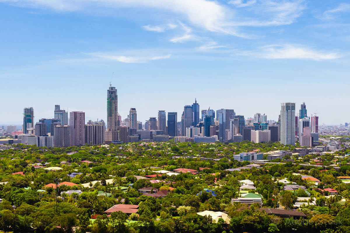 Modern financial and business district of Metro Manila, Philippi