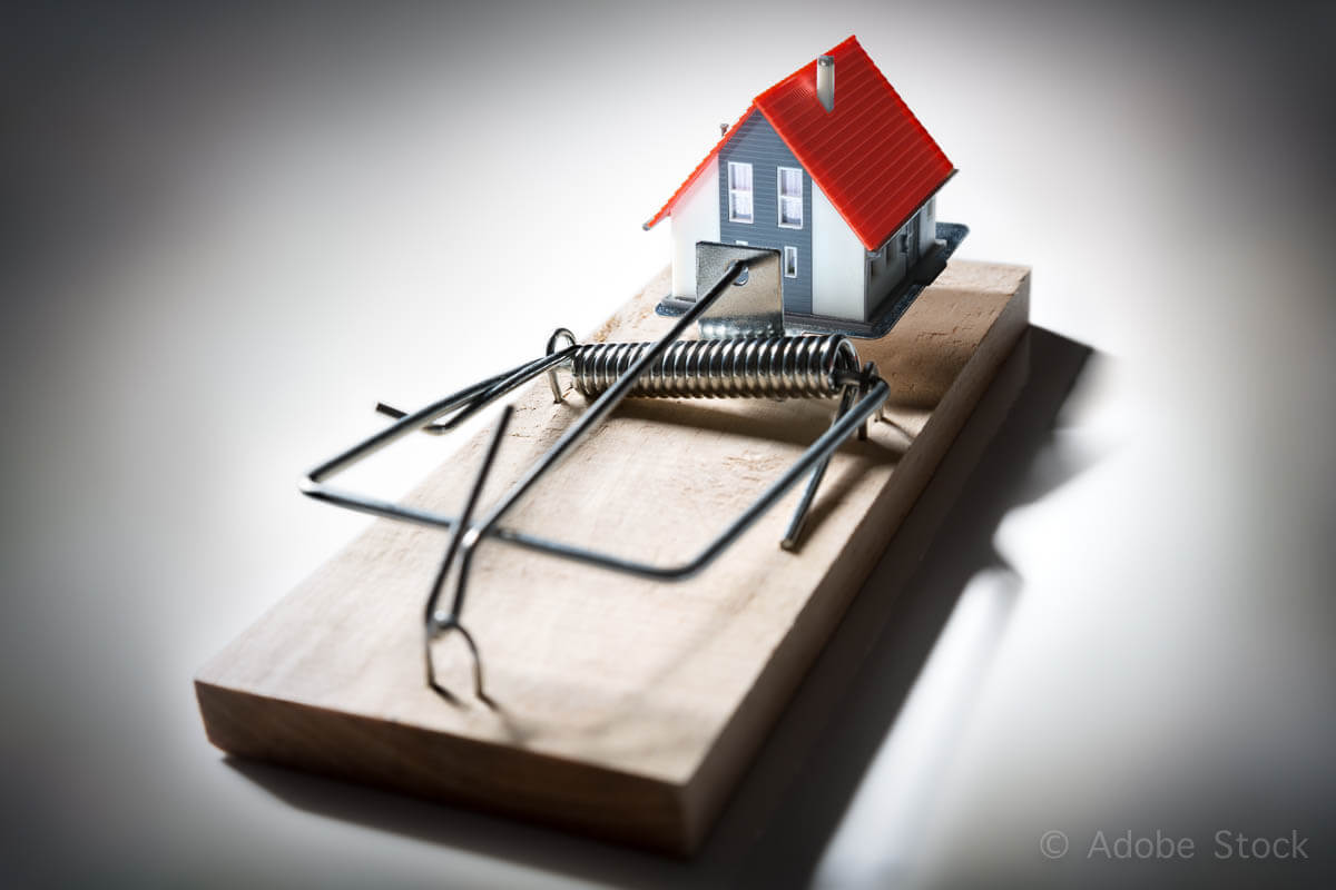 trap estate – risk of mortgage on house