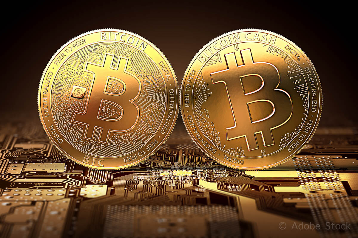 New Bitcoin Cash clashing with classic Bitcoin after the split.